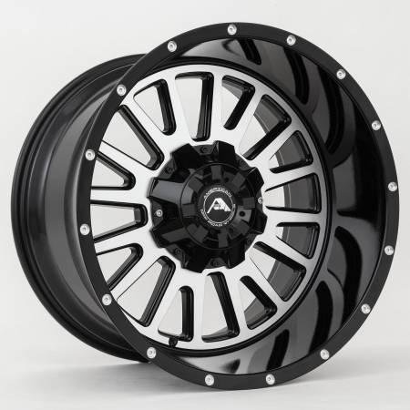 American Off-Road Wheels - American Off-Road Wheels Rim A105 20x10 8x170 ET-24 125.2CB Black Machined