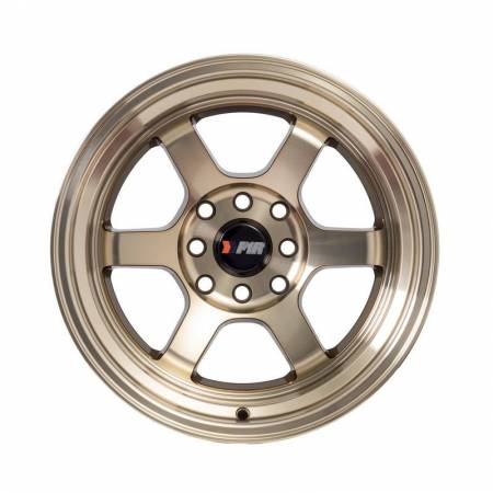 F1R Wheels - F1R Wheels Rim F05 15x8 4x100/114.3 ET0 Machined Bronze