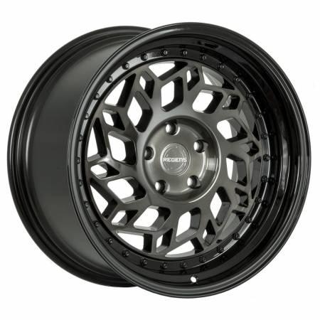 Regen5 Wheels - Regen5 Wheels Rim R32 18x8.5 5x120 36ET Smoked Carbon/Polish Lip