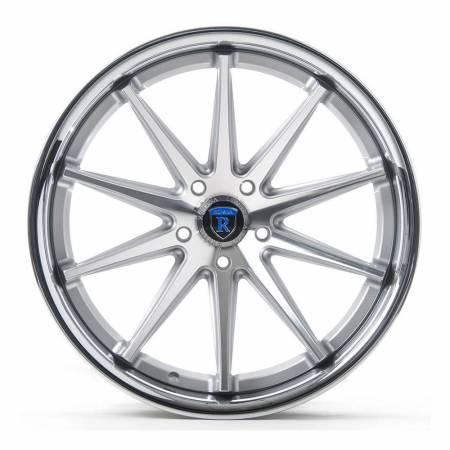 Rohana Wheels - Rohana Wheels Rim RC10 20x10 5x108 40ET Machine Silver/Chrome Lip