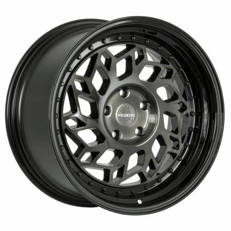Regen5 Wheels - Regen5 Wheels Rim R32 18x9.5 5x120 35ET Smoked Carbon/Black Lip