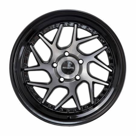 Regen5 Wheels - Regen5 Wheels Rim R33 18x8.5 5x114.3 38ET Smoked Carbon/Black Lip