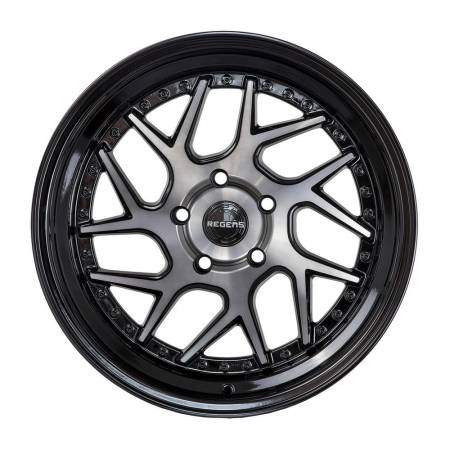 Regen5 Wheels - Regen5 Wheels Rim R33 18x8.5 5x100 35ET Smoked Carbon/Black Lip