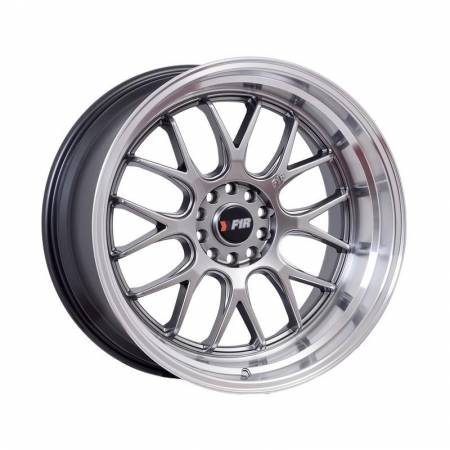 F1R Wheels - F1R Wheels Rim F21 18x10.5 5x100/114.3 ET20 Hyper Black/Polish Lip