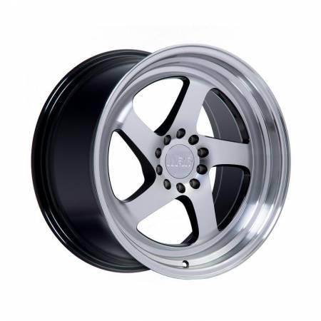 F1R Wheels - F1R Wheels Rim F28 20x10 5x114 ET40 Machine Black/Polish Lip