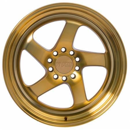 F1R Wheels - F1R Wheels Rim F28 18x8.5 5x100/114.3 ET38 Machined Gold