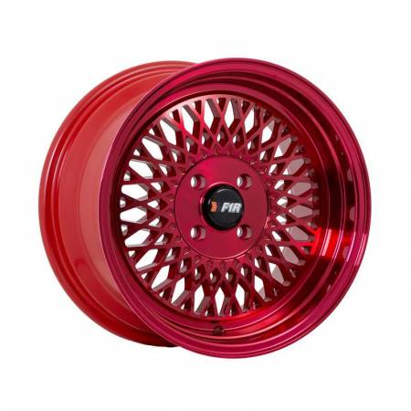 F1R Wheels - F1R Wheels Rim F01 15x8 4x100 ET25 Machined Red