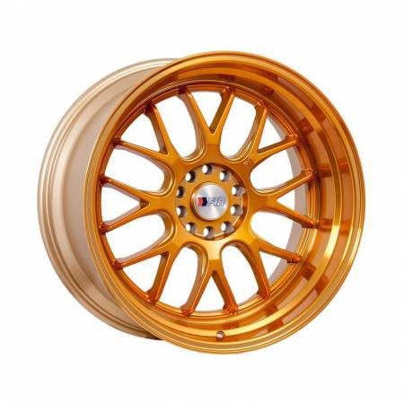 F1R Wheels - F1R Wheels Rim F21 17x8.5 5x100/114.3 ET35 Machined Gold