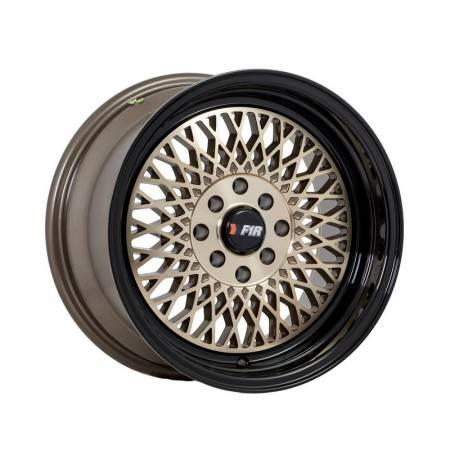 F1R Wheels - F1R Wheels Rim F01 15x8 4x100/114.3 ET25 Machined Bronze/Black Lip