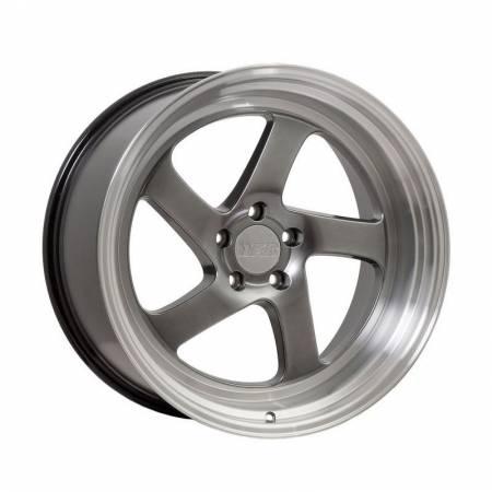 F1R Wheels - F1R Wheels Rim F28 18x9.5 5x100/114.3 ET20 Hyper Black/Polish Lip