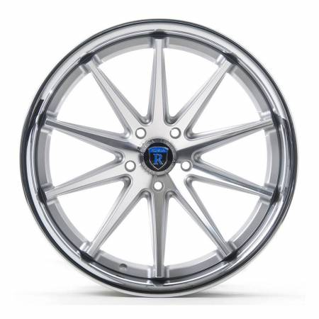 Rohana Wheels - Rohana Wheels Rim RC10 19x9.5 5x114 20ET Machine Silver/Chrome Lip