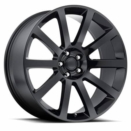 Factory Reproductions Wheels - FR Series 65 Replica Chrysler 300 Wheel 22X9 5X115 ET18 71.5CB Gloss Black
