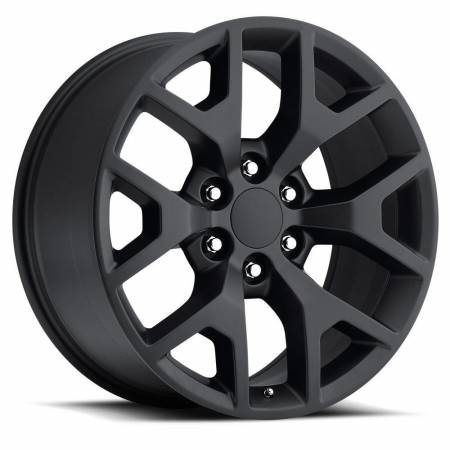 Factory Reproductions Wheels - FR Series 44 Replica GMC Sierra Wheel 22X9 6X5.5 ET31 78.1CB Satin Black