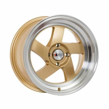 F1R Wheels - F1R Wheels Rim F08 15x8 4x100 ET25 Gold/Polish Lip