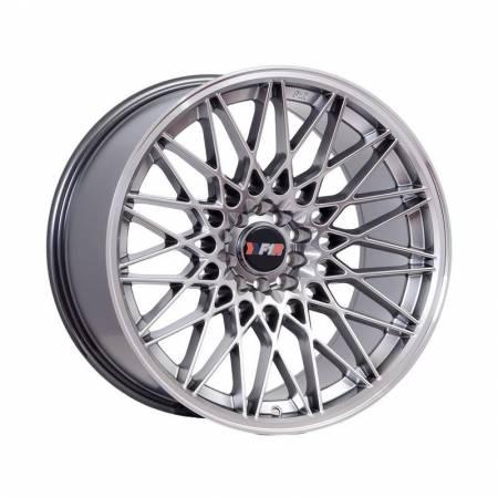 F1R Wheels - F1R Wheels Rim F23 18x10.5 5x100/114.3 ET40 Hyper Black/Polish Lip