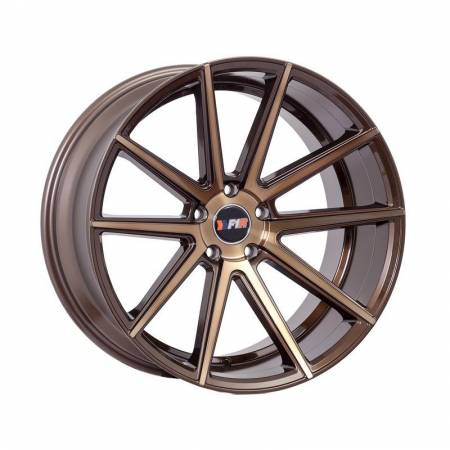 F1R Wheels - F1R Wheels Rim F27 18x9.5 5x114.3/120 ET38 Machined Bronze