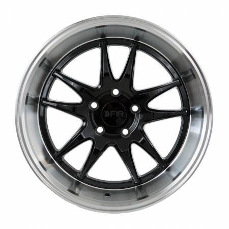 F1R Wheels - F1R Wheels Rim F102 18x9.5 5x114 ET38 Gloss Black/Polish Lip