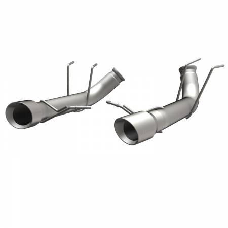 MagnaFlow Exhaust Products - MagnaFlow 13 Ford Mustang Dual Split Rear Exit Stainless Axle-Back Cat Back Exhaust (Competition)
