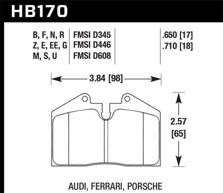 Hawk Performance - Hawk 89-94 Porsche 911 / 86-94 944 / 93 & 95 968 Front & Rear Black Race Brake Pads
