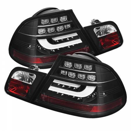 Spyder Auto - Spyder BMW E46 3-Series 04-06 2Dr Light Bar Style LED Tail Lights - Black