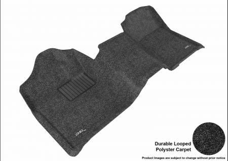 3D MAXpider (U-Ace) - 3D MAXpider FLOOR MATS CHEVROLET SILVERADO 1500 REGULAR CAB/ GMC SIERRA 1500 REGULAR CAB 2007-2013 CLASSIC BLACK R1 BENCH SEAT (1 PC)