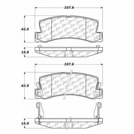 StopTech - StopTech 105.03250 Disc Brake Pad Fits Camry Celica ES250 ES300 RX300 Solara