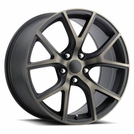 Factory Reproductions Wheels - FR Series 75 Replica Trakhawk Wheel 20X9 5X5 ET35 71.5CB Satin Black Machine Face with Bronze Clear