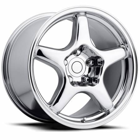Factory Reproductions Wheels - FR Series 21 Replica C4 Corvette Wheel 17X9.5 5X4.75 ET54 70.3CB Chrome