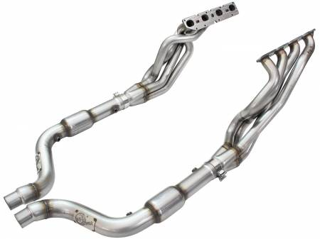 Advanced FLOW Engineering - aFe Twisted Steel Long Tube Headers & Connection Pipes w/ Cats 09-15 Dodge Charger R/T V8-5.7L Hemi