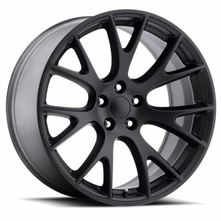 Factory Reproductions Wheels - FR Series 70 Replica Hellcat Wheel 20X9.5 5X115 ET15 71.5CB Satin Black