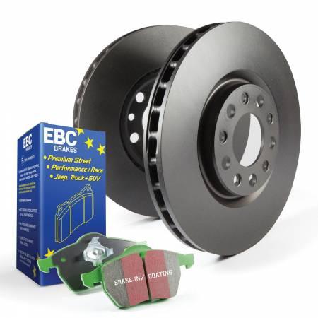 EBC Brakes - EBC Brakes S11KF1621 S11 Kits Greenstuff 2000 and RK Rotors Fits 12-15 Civic