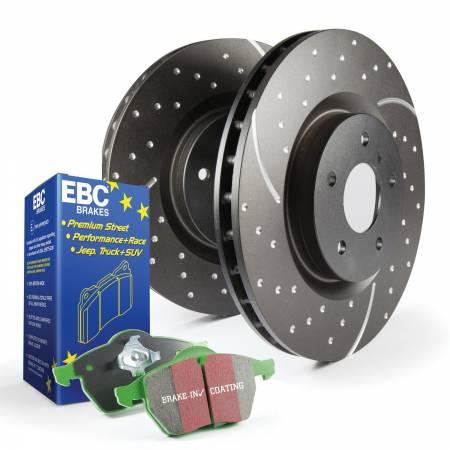 EBC Brakes - EBC Brakes S10KF1435 S10 Kits Greenstuff 2000 and GD Rotors Fits 13-18 Focus