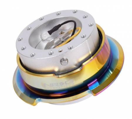 NRG Innovations - NRG Innovations Quick Release Gen 2.8 - Silver Black Body/NeoChrome Ring