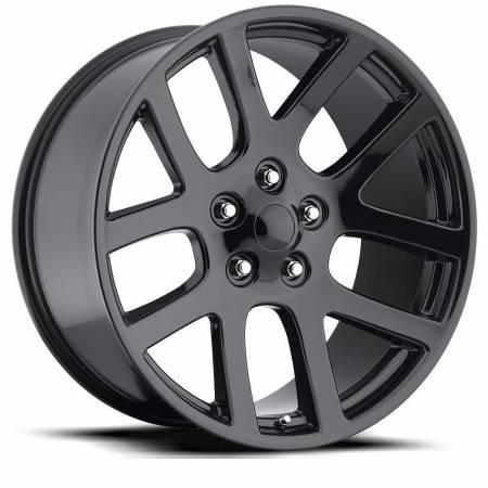 Factory Reproductions Wheels - FR Series 60 Replica Ram 1500 Wheel 20X9 5X5.5 ET25.4 77.8CB Gloss Black