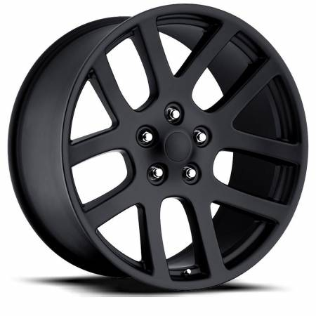 Factory Reproductions Wheels - FR Series 60 Replica Ram 1500 Wheel 24X10 5X5.5 ET25.4 77.8CB Satin Black