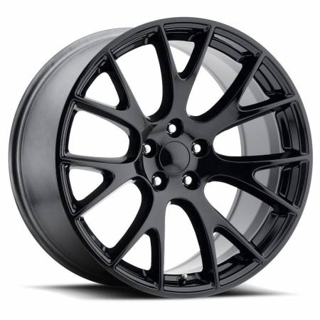 Factory Reproductions Wheels - FR Series 70 Replica Hellcat Wheel 20X9.5 5X115 ET15 71.5CB Gloss Black