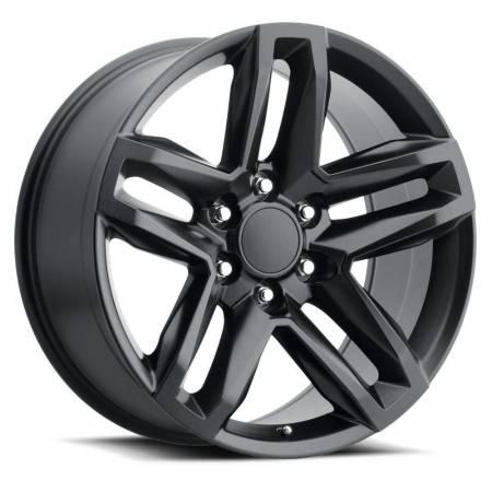 Factory Reproductions Wheels - FR Series 94 Replica Z71 Wheel 22x9 6X5.5 ET15 78.1CB Satin Black