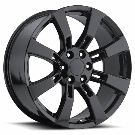 Factory Reproductions Wheels - FR Series 40 Replica Escalade Wheel 24X10 6X5.5 ET31 78.1CB Gloss Black