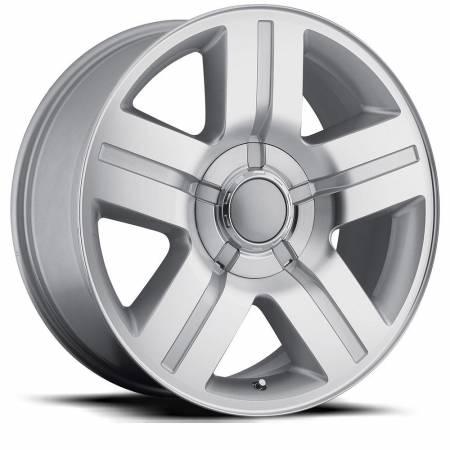 Factory Reproductions Wheels - FR Series 37 Replica Silverado Wheel 22X9 6X5.5 ET31 78.1CB Silver Machine Face