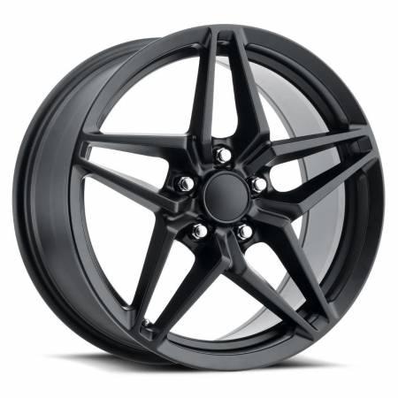 Factory Reproductions Wheels - FR Series 29 Replica Corvette ZR1 Wheel 18X8.5 5X4.75 ET56 70.3CB Satin Black
