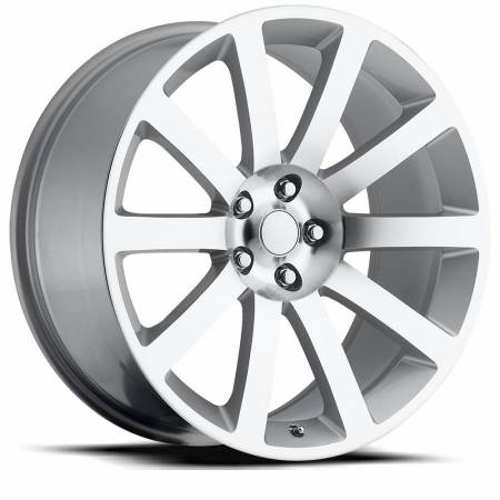 Factory Reproductions Wheels - FR Series 65 Replica Chrysler 300 Wheel 22X9 5X115 ET18 71.5CB Silver Machine Face