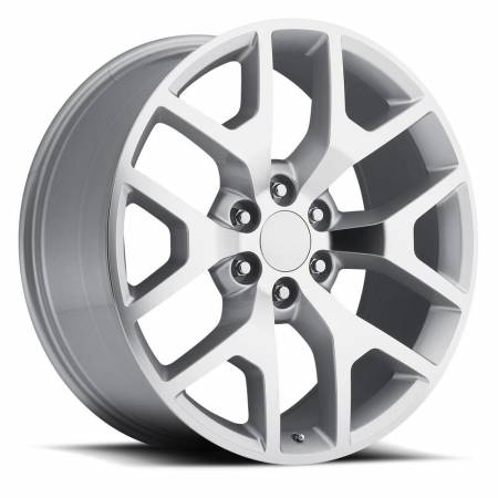 Factory Reproductions Wheels - FR Series 44 Replica GMC Sierra Wheel 22X9 6X5.5 ET31 78.1CB Silver Machine Face