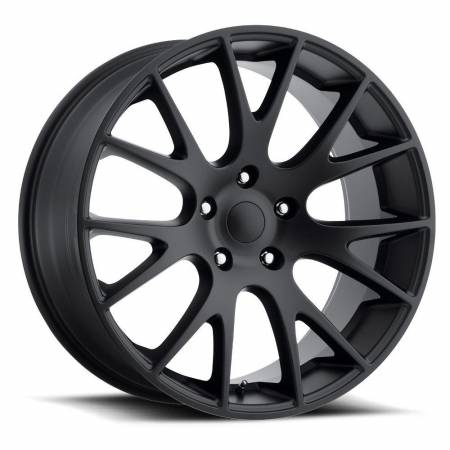 Factory Reproductions Wheels - FR Series 70 Replica Hellcat Wheel 20X9 5X5 ET30 71.5CB Satin Black