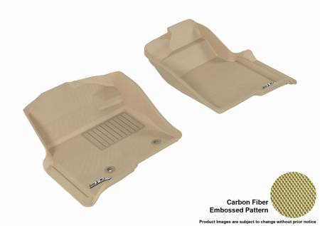 3D MAXpider (U-Ace) - 3D MAXpider FLOOR MATS FORD F-150 2010-2014 REGULAR/ SUPERCAB/ SUPERCREW KAGU TAN R1 (2 POSTS, WITH HEATING DUCT, NOT FIT 4X4 M/T FLOOR SHIFTER)