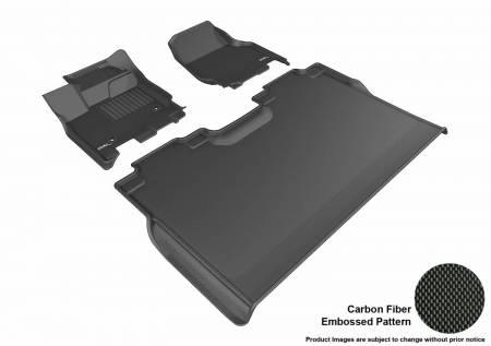 3D MAXpider (U-Ace) - 3D MAXpider FLOOR MATS FORD F-150 2015-2019 SUPERCREW KAGU BLACK R1 R2 (2 EYELETS, NOT FIT 4X4 M/T FLOOR SHIFTER)