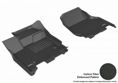 3D MAXpider (U-Ace) - 3D MAXpider FLOOR MATS FORD F-150 2015-2019 SUPERCREW KAGU BLACK R1 (2 EYELETS, NOT FIT 4X4 M/T FLOOR SHIFTERS)