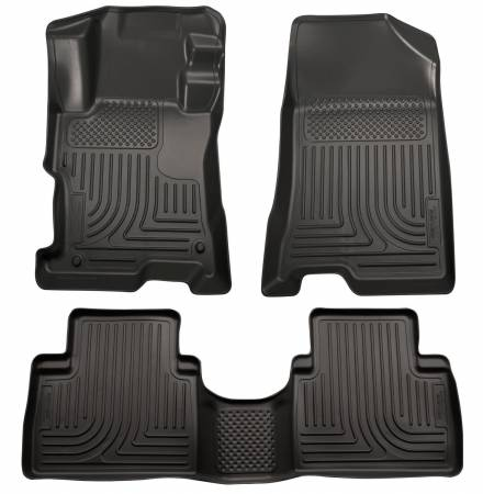 Husky Liners - Husky Liners 11-12 Kia Sorento (Auto Trans. Only) WeatherBeater Combo Black Floor Liners