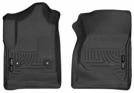 Husky Liners - Husky Liners 14-17 Chevrolet Silverado 1500 Standard Cab X-Act Contour Black Front Floor Liners
