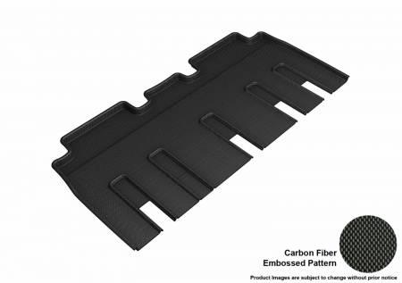 3D MAXpider (U-Ace) - 3D MAXpider FLOOR MATS TESLA MODEL X FOLDING 7-SEATS 2017-2019 KAGU BLACK R2