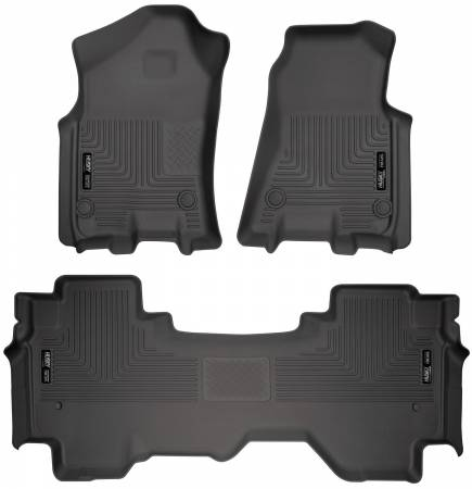 Husky Liners - Husky Liners 2019 Ram 1500 Quad Cab Front & 2nd Seat Weatherbeater Floor Liners